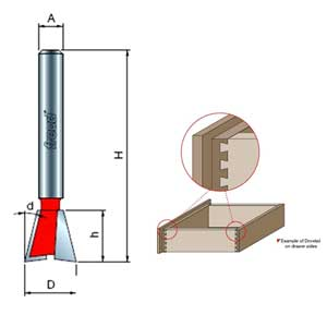 Freud Dovetail Router Bit