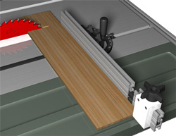 "Image of 22"" Miter Extension Fence on Table Saw"